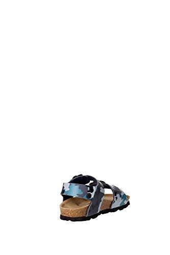 Grünland LUMIÈRE SB0115 24/30 bleues sandales militaires enfant boucles Birk Bleu