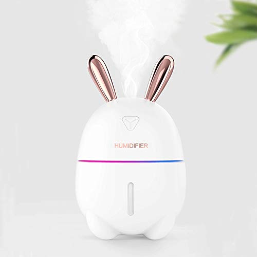 NBCDY Humidificador ultrasónico de Conejo de 300 ml, Niebla fría, con Funcionamiento silencioso, Apagado...