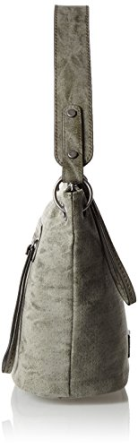 s.Oliver Damen Hobo Bag Schultertaschen, 12 x 22 x 33 cm Grau (gun grey)