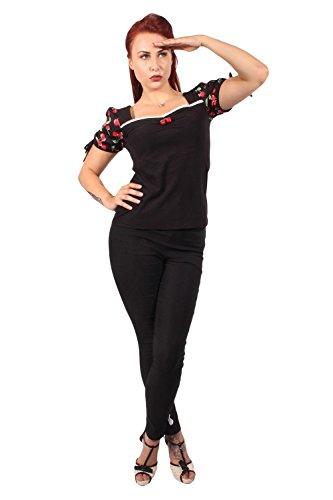 fifties rockabilly Cherry Puffärmel Kirschen Carmen T-Shirt -