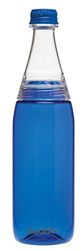 Aladdin Fresco Twist & Go Tritan-Trinkflasche, 0.7 Liter, Blau, Geeignet für Kohlensäure, Spülmaschinengeeignet, Durchsichtig, Wasserflasche für Sprudel