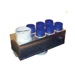 Plenum isole extraction 6 piquages d80mm 1piquage 125mm 1piq.d150 double flux