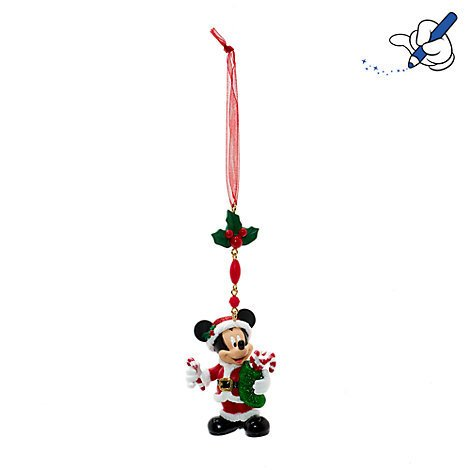 Mickey Mouse Christmas baumeln Dekoration, Disneyland Paris, offizielles Disney Weihnachten Ornament