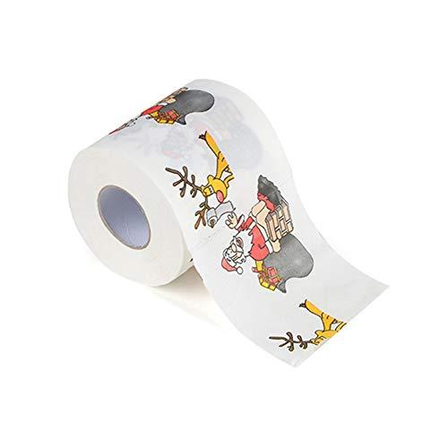 Gewebe Kü Party Bad Lieferungen Gedruckt Wohnzimmer Rolle Papier Ornament Cartoon Wc Festival Wohnkultur Weihnachten(2#)