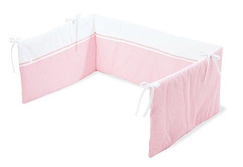Pinolino 650389-7 - Nestchen für Kinderbetten, Dessin Vichy-Karo rosé