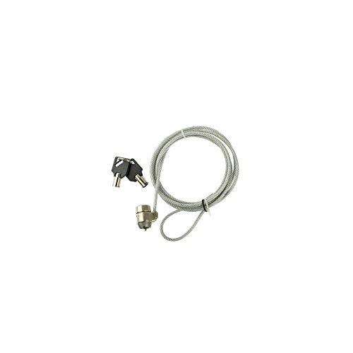 Câble de Sécurité à Câble Métallique Avec serrure à Clé Pour PC Portable (Longueur: 1.8m) (Lock Cable 1 Notebook Security)