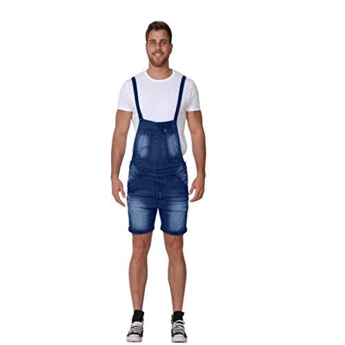 Wash Designer Jeans (MEIbax Herren Hosenträgerhose Männer Jeans Wash Broken Pocket Hosen Overall Lässige Jumpsuit)