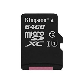 Kingston SDC10G2/64GBSP - Tarjeta microSD de 64GB (Clase 10 UHS-I 45MB/s) Tarjeta Sola