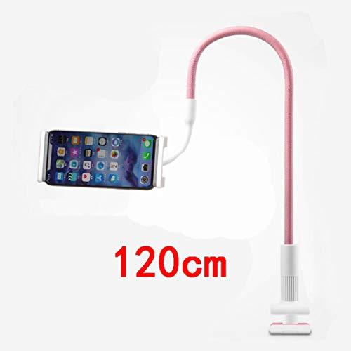 GHMOZ Handy- Und Tablet-Ständer, Verstellbare Und Abnehmbare Halterung Mit Halterung for 4-12,9 Zoll Handy Oder Tablet (Color : Pink, Size : 120cm) (Htc-tablet Entsperrt)