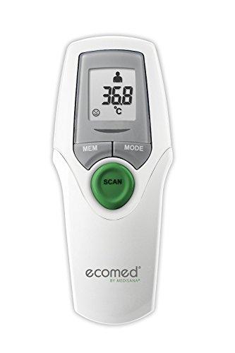 Ecomed TM-65E - Termómetro por infrarrojos, medición precisa sin contacto