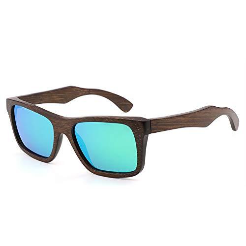 FYrainbow Paartes Retro-Fahrglasche, polarisierte Light Men ' S und Frauen Holzsonnenbrillen Sport Glasses Bamboo und Wood Sonnenbrille TAC-Objektiv UV400,C