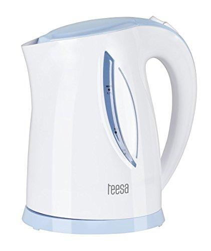 Teesa tsa1010inalámbrico hervidor de Agua, 1,7L, Color Blanco/Azul