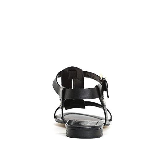 ALESYA by Scarpe&Scarpe - Flache Sandalen mit Metalldetail, Leder Schwarz