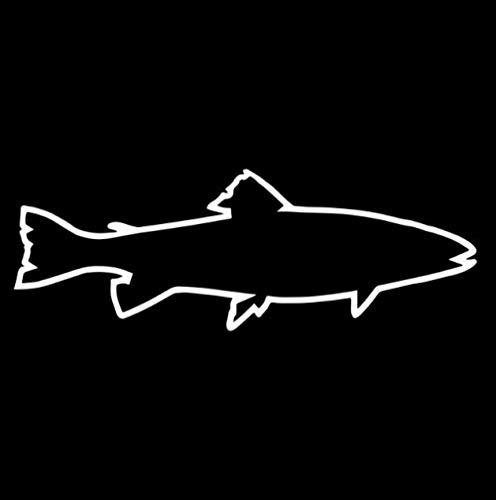 RJSYT 2PCS Autoaufkleber Forellen Umriss Aufkleber Vinyl Auto Aufkleber Sea Spotted Rainbow Brook Inshore Fisch 16,6 cm * 5,8 cm -