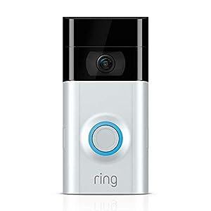 Ring Video Doorbell 2 | Video Türklingel 2 1080p HD-Video, Gegensprechfunktion, Bewegungsmelder, WLAN, Satin Nickel