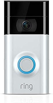 Ring Video Doorbell 2 | Video Türklingel 2 1080p HD-Video, Gegensprechfunktion, Bewegungsmelder, WLAN, Satin N