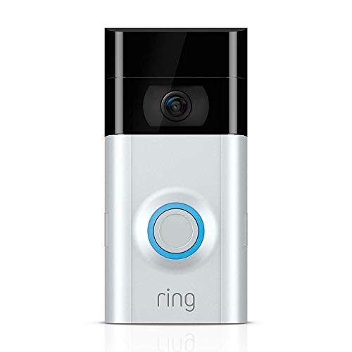 Ring Video Doorbell 2 - Video Türklingel 2 1080p HD Video, Gegensprechfunktion, Bewegungsmelder, WLAN, Satin Nickel