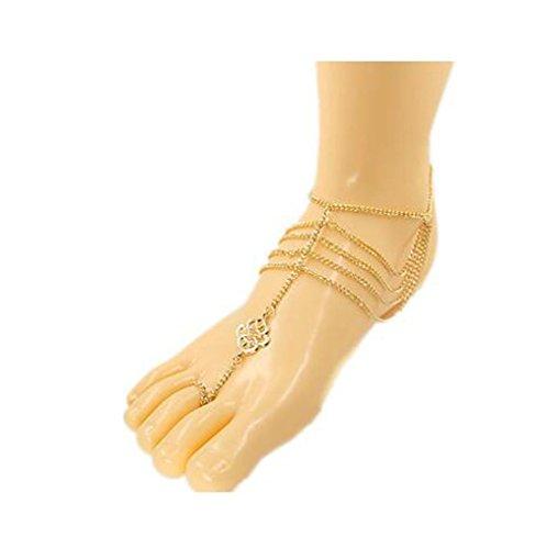 GYJUN Frauen der europäischen Art und weise Goldkette Würgeschlinge Fußkettchen , one size