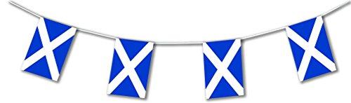 Scottish Flag (Deco Party UK Wimpelkette mit Schottlandflaggen aus Kunststoff, 10m lang)