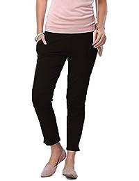 Go Colors Women's Cotton Blend Kurti Pants (Cigarette Trouser)