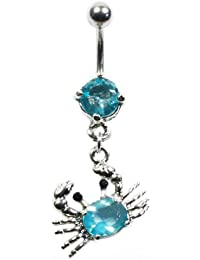 Piercing General - Piercing Nombril Crabe - Turquoise
