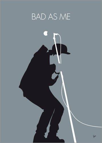 Poster 30 x 40 cm: No037 My Tom WAITS Minimal Music Poster von chungkong - Hochwertiger Kunstdruck, Kunstposter
