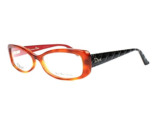 Dior Für Frau Cd3227 / Timeless Cannage Light Tortoise / Black / Red Kunststoffgestell Brillen, 54mm