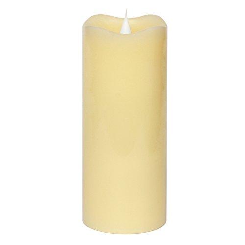 Vela LED Sin Llama, Vela Simplux LED Mecha y Llama Bailando 3D Llama Sin Fuego, Cera Auténtica, Velas Electrónicas Con Temporizador, De Pilas, Marfil, 7,6x17,8 cm(3x7 Pulgadas)