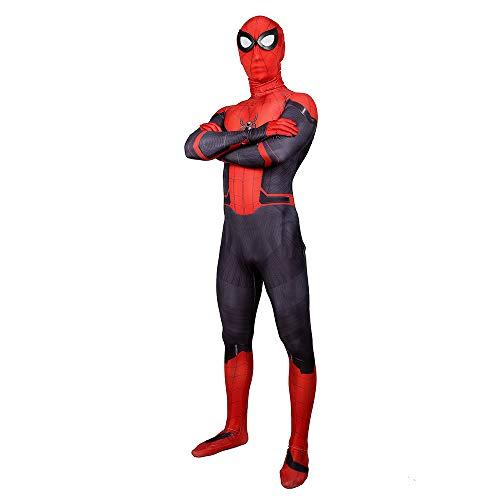 RongXing Spiderman Kostüm Unisex Lycra Spandex Zentai, Halloween Cosplay Kostüme Erwachsene 3D Style (Adult-red-XXXL) (Spandex Lycra Kostüm)