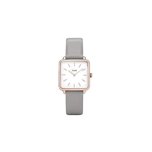 CLUSE Damen CL60005 La Garçonne Armbanduhr, Rose Gold White/Grey
