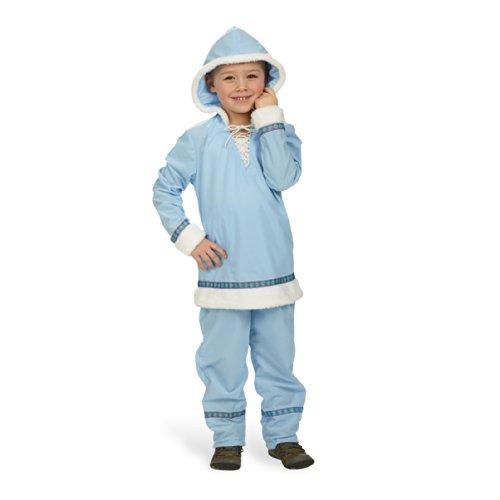 Das Kostümland Eskimo Kinder Kostüm - Anzug in Hellblau - Gr. 116