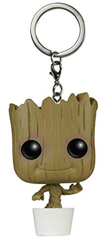 Schlüsselanhänger - Die Action Figur aus - Marvel's Guardians of The Galaxy | Bobblehead Dancing Groot Anhänger Gadget | 3D Disney Lustige Geschenke für Kinder (Die Avengers Von Disney)