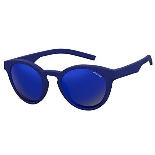 Polaroid Mirrored Round Women's Sunglasses - (PLD 7021/S PJP 495X|49|Blue Color) image
