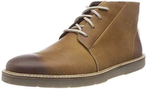 Clarks Herren Grandin Mid Chukka Boots, Braun (Dark Tan Lea), 44 EU