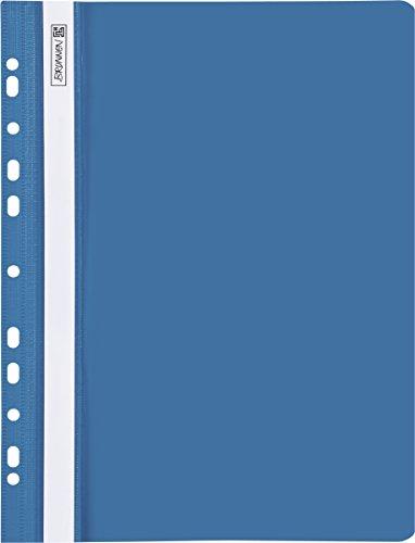 Brunnen 102015230 Schnellhefter (A4 gelocht, Office to go, glasklares Deckblatt) blau