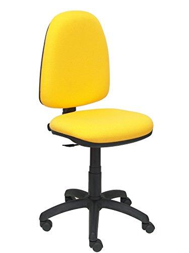 Silla de oficina amarilla ergonómica