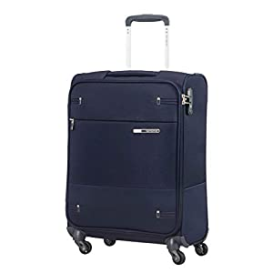 Samsonite Base Boost - Spinner S (Length: 40 cm) Hand Luggage, 55 cm, 39 Litre, Blue (Navy Blue)