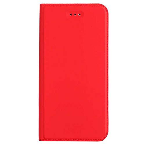 Cover Galaxy S5, Bear Village® Custodia in Pelle PU con Funzione Staffa e Slot Carte, Chiusa Magnetica Protettiva Cover per Samsung Galaxy S5 (#3 Rosso)