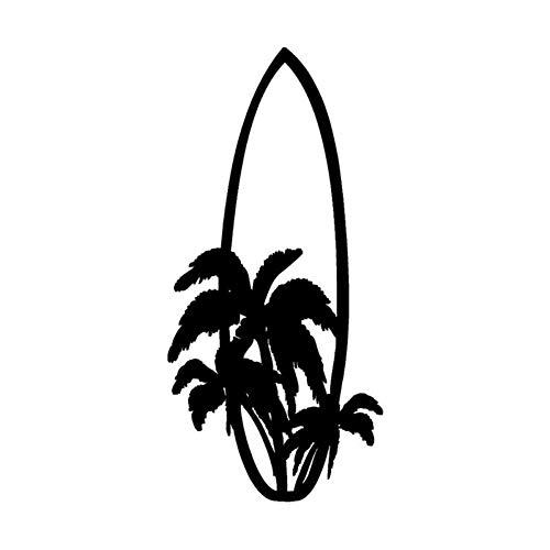 DSRLO Autoaufkleber 7.1 * 15.2Cm Stilvolles Surfbrett, das Auto-Aufkleber-Karikatur-Motorrad-Vinylabziehbilder Surft