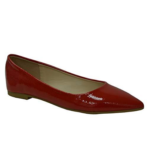 CucuFashion - Zapatos de Bailarina para Mujer, Color Blanco, Zapatos de Ballet, Zapatos de Bailarina...