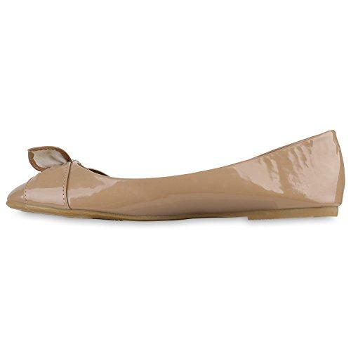 Damen Ballerinas Klassische Ballerinas Schleifen Flach Übergrößen Khaki Schleife Steinchen