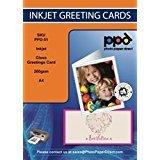 PPD PPD-51-ENV-20 - Papel para tarjeta de felicitación de inyección de tinta (tamaño A4 a A5, 260 g/m², con sobres, 20 hojas)
