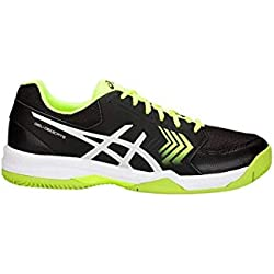 Asics Gel-Dedicate 5 Clay, Zapatillas de Tenis para Hombre, (Black/Flash Yellow 001), 43.5 EU
