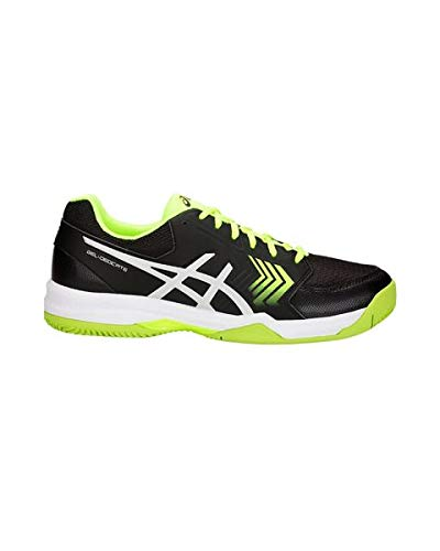 ASICS Gel-Dedicate 5 Clay, Scarpe da Tennis Uomo, Multicolore (Black/Flash Yellow 001), 42 EU