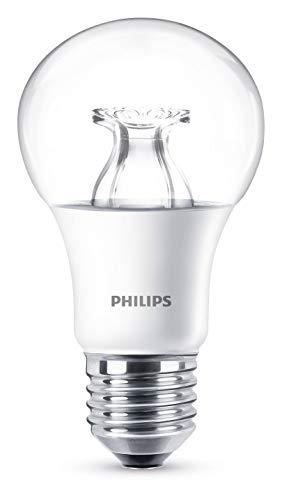 Philips LED WarmGlow Lampe ersetzt 60 W, E27, warmweiß (2200K), 806 Lumen, dimmbar