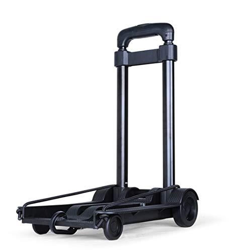 Carrello Portapacchi Porta Valigie Compatto E Portatile Mini Carrello della Spesa Tirante di Ferro, Nero (Colore : B)