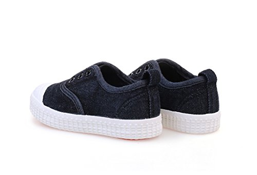 ALUK- Babyschuhe - Kinder Segeltuchschuhe lernen faulen Schuhe beiläufige Schuhe ( Farbe : Schwarz , größe : 34 ) Schwarz