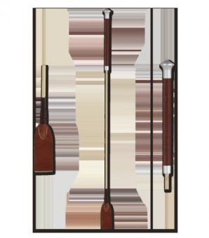 WALDHAUSEN Springgerte Noblesse, braun-beige, 75 cm, braun/beige, 75 cm