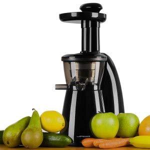 Jago Kaltpress-Entsafter Standmixer Universalmixer Blender Küchenmixer 150 W inkl. 2 Behälter und Filtersieb
