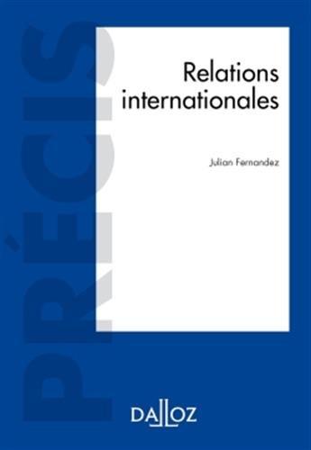 Relations internationales - Nouveauté par Julian Fernandez